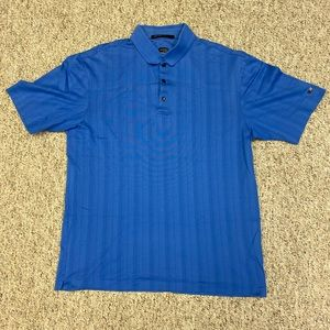Nike Tiger Woods Collection Blue Medium Polo Shirt